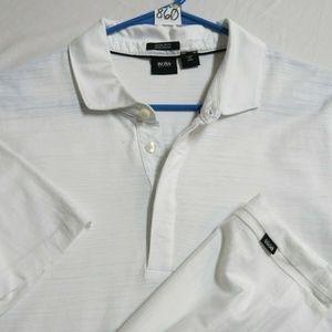 XL White Hugo Boss Slim Fit Men Cotton #860 Polo